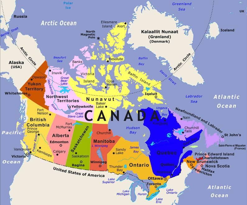 Bản Đồ Canada cùng khám phá các tỉnh và lãnh thổ của nước có diện tích thứ hai thế giới này - vnsava.com
