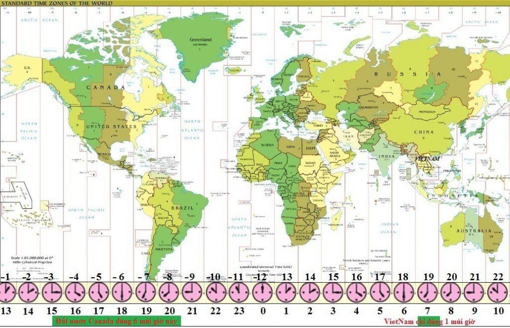 Chuyển đổi Múi giờ, Toronto, Canada - vnsava.com