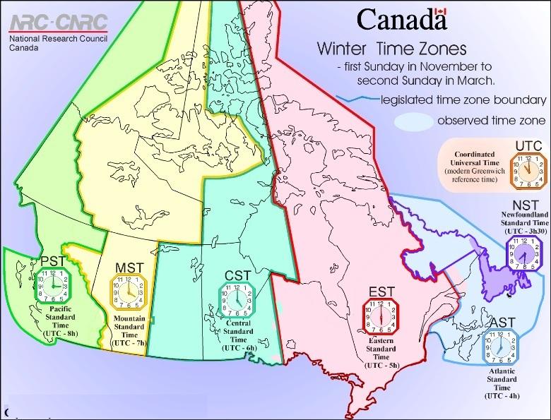 Múi giờ Canada so với Việt Nam - vnsava.com