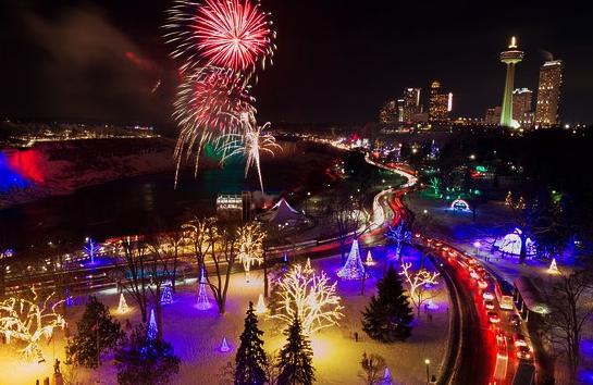 Winter Festival of Lights, Lễ hội ánh sáng mùa đông ở Niagara Falls, Canada