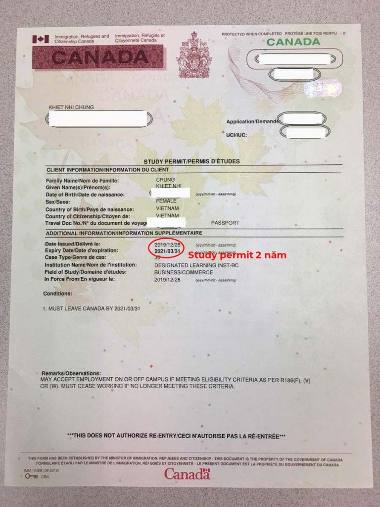 Hiểu đúng về Visa và Study Permit khi du học Canada